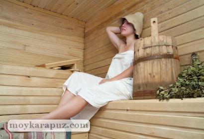 Беременная в бане